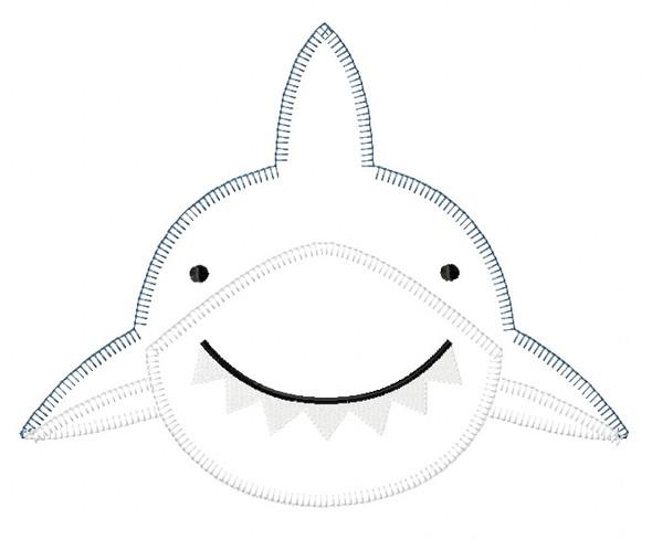 Shark 2 Blanket and Vintage Stitch Applique Machine Embroidery Design