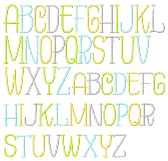 Parker Embroidery Font Machine Embroidery Design