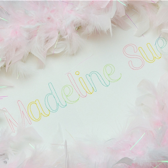 Madeline Open Embroidery Font
