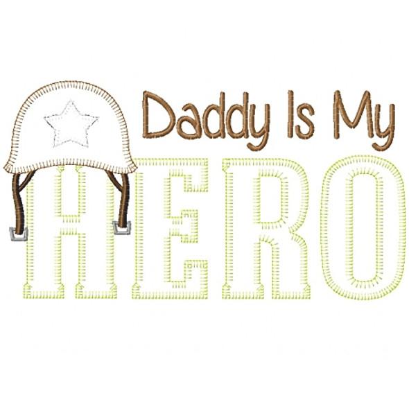 Army Dad Hero Vintage and Blanket Stitch Applique