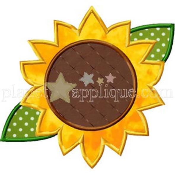 Sunflower Applique Machine Embroidery Design