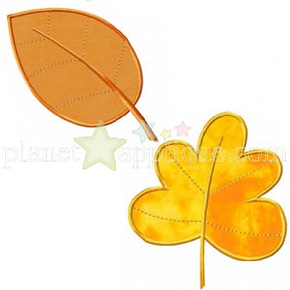 Fall Leaf Collection Applique Machine Embroidery Design