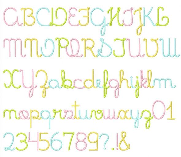 Patticake Font Machine Embroidery Design
