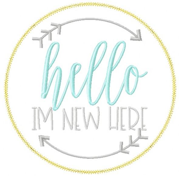 Hello Im New Vintage and Blanket Stitch Applique Machine Embroidery Design