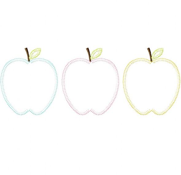 Apples Vintage and Blanket Stitch Applique