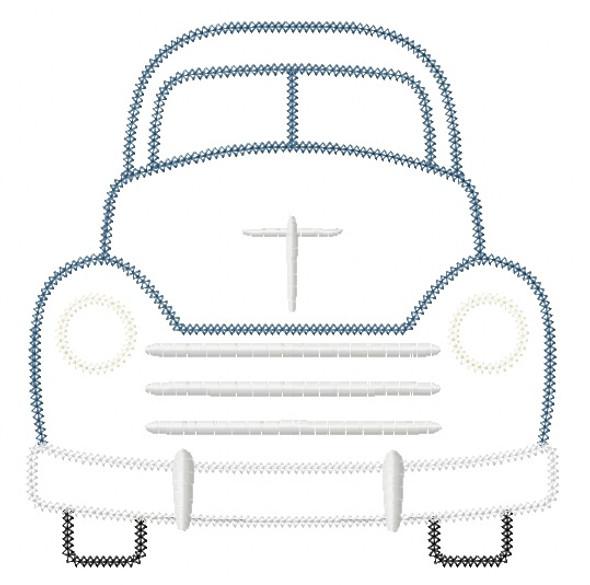 Vintage Truck Vintage and Chain Stitch Applique