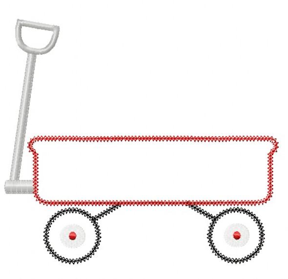 Wagon 2 Vintage and Chain Stitch Applique