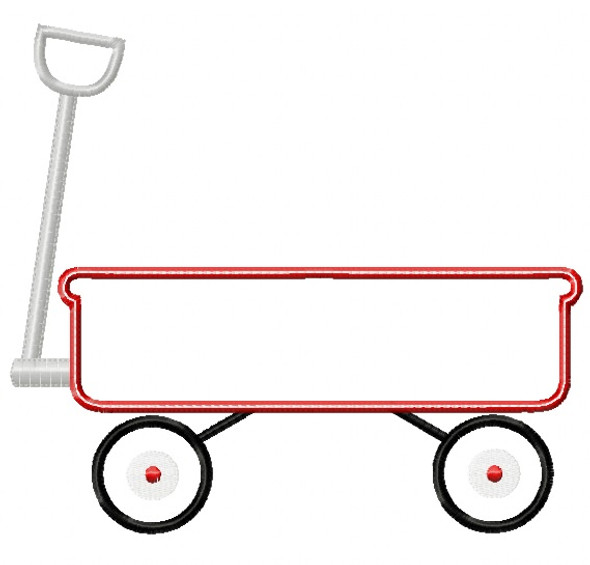 Wagon 2 Satin and Zigzag Stitch Applique