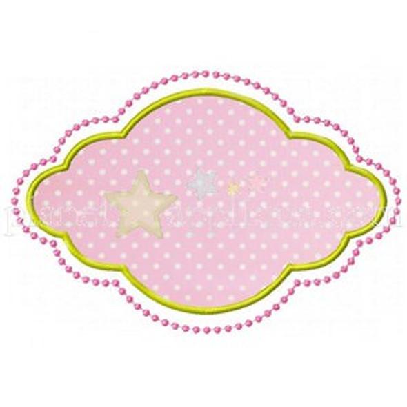 Kaleigh Frame Applique Machine Embroidery Design