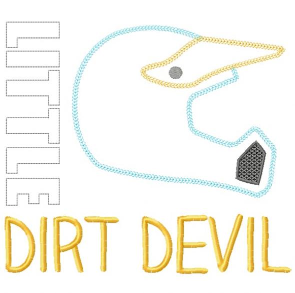 Little Dirt Devil Vintage and Chain Stitch Applique