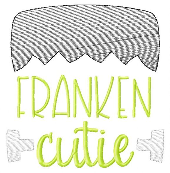 Franken Cutie Sketch Embroidery Machine Embroidery Design