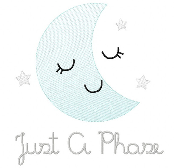 Just a Phase Sketch Embroidery Machine Embroidery Design