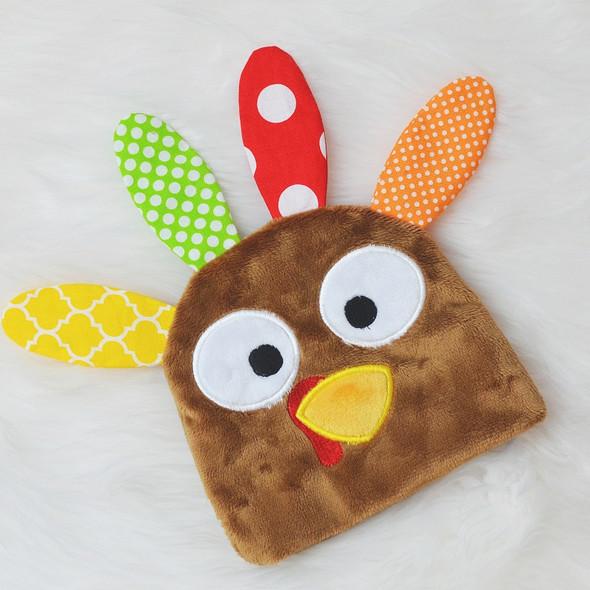 In the Hoop Turkey Beanie Machine Embroidery Design