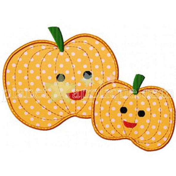 Mommy and Baby Pumpkin Machine Embroidery Design
