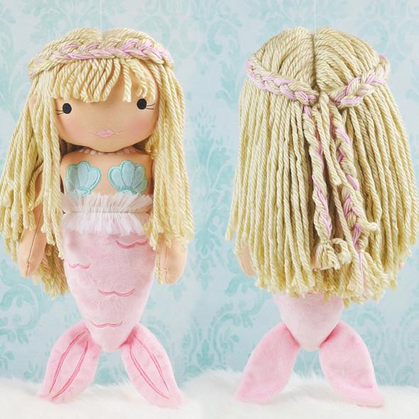 In the Hoop Mermaid Mia Doll Machine Embroidery Design