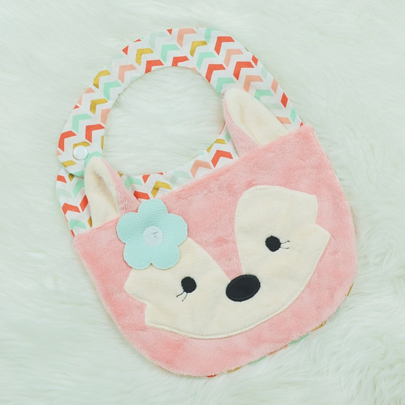 In the Hoop Fox Bib Machine Embroidery Design