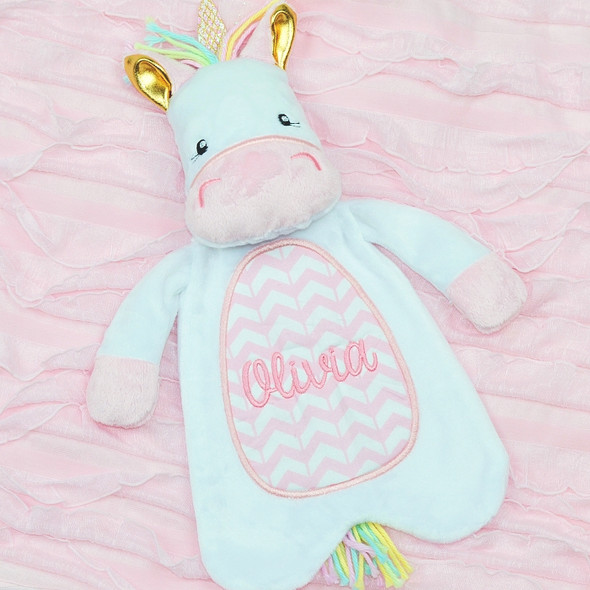 In The Hoop Unicorn Lovey Machine Embroidery Design