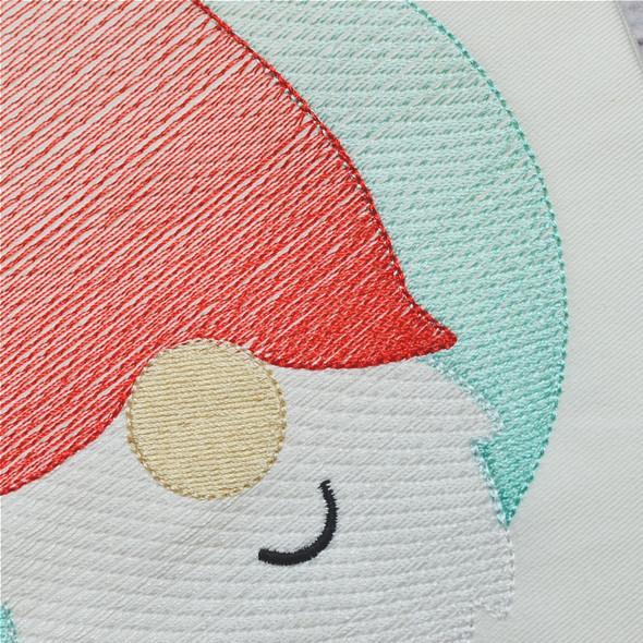 Gnome Patch Sketch Filled Stitch