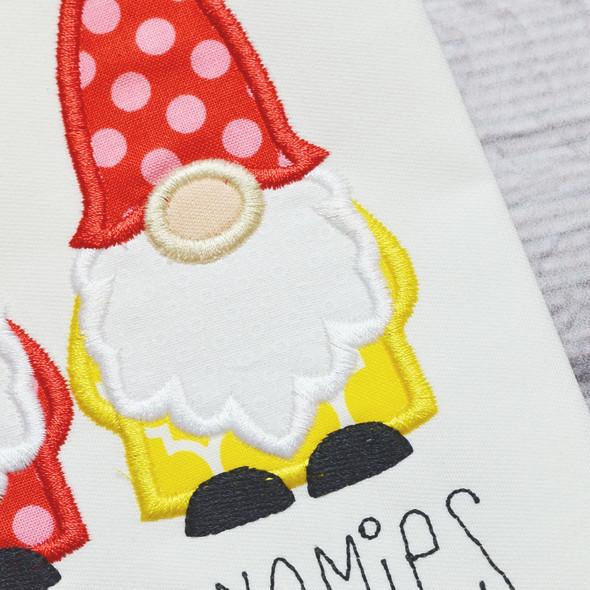 Gnomes Satin and ZigZag Stitch