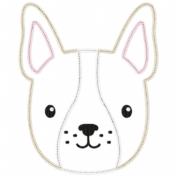 Boy Frenchie Vintage and Chain Stitch