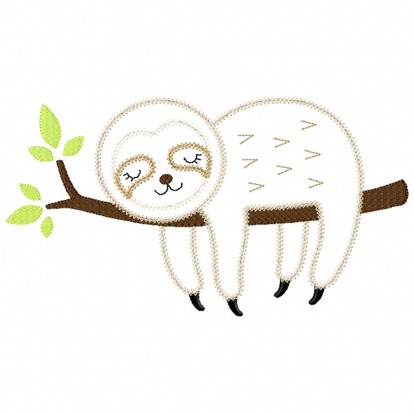 Sleeping Sloth Vintage and Chain Stitch