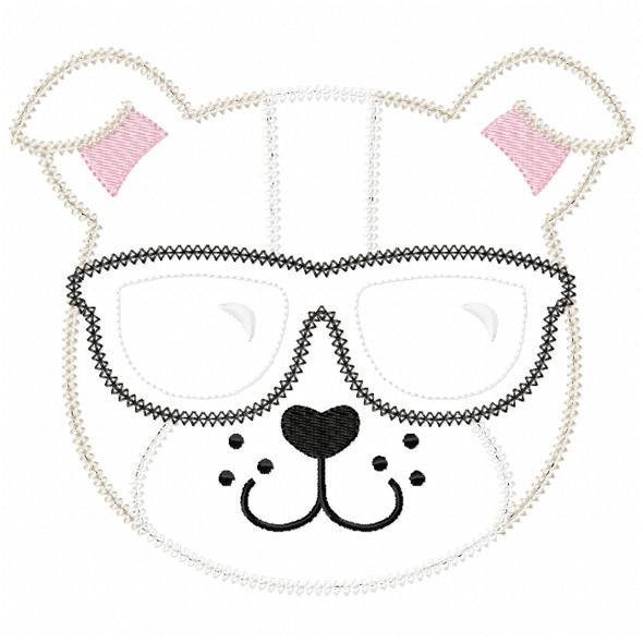 Cool Bulldog Vintage and Chain Stitch