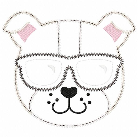 Cool Bulldog Satin and ZigZag Stitch