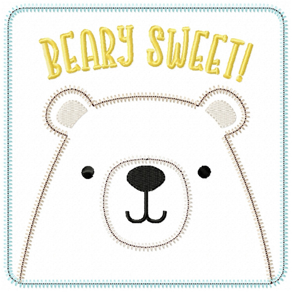 Beary Sweet Patch Satin and ZigZag Stitch