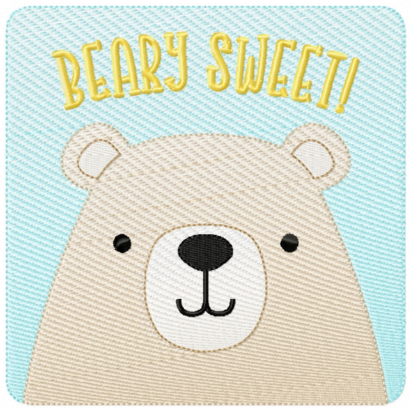 Beary Sweet Patch Sketch Filled Stitch