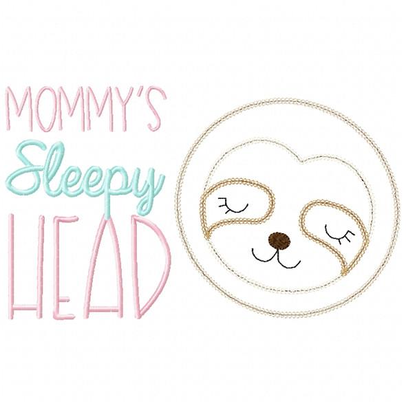 Sleepy Head Sloth Vintage and Chain Stitch