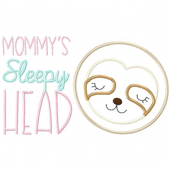 Sleepy Head Sloth Satin and ZigZag Stitch