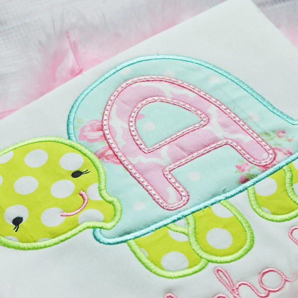 Turtle Applique Alphabet