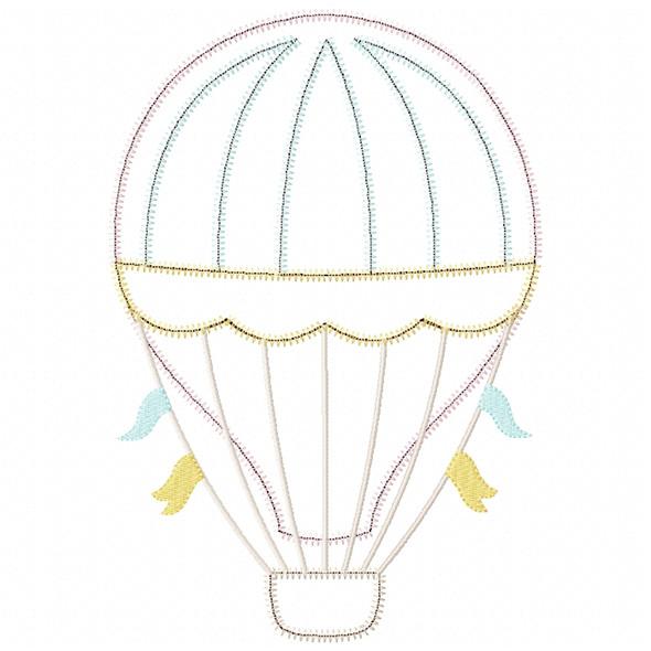 Hot Air Balloon 2 Satin and ZigZag Stitch