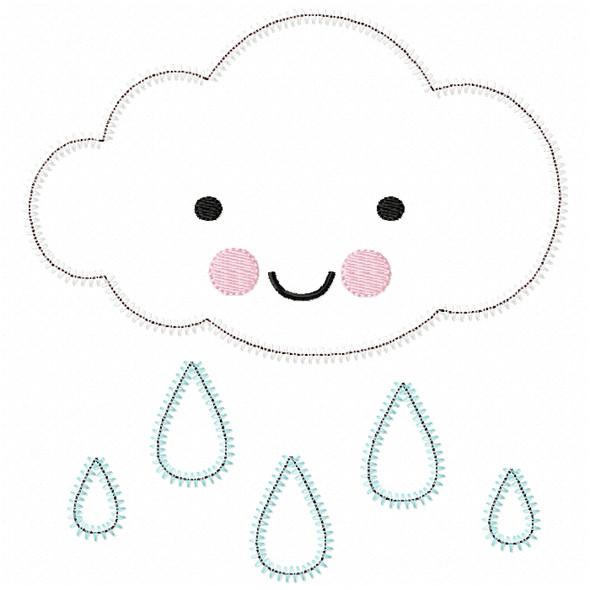 Raincloud Satin and ZigZag Stitch