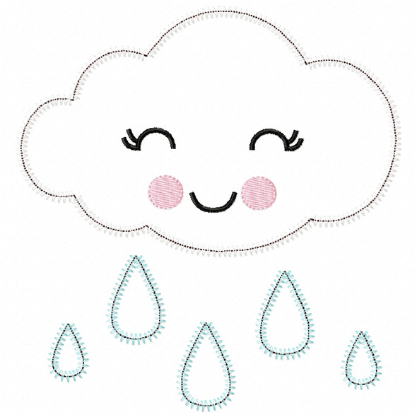 Girly Raincloud Satin and ZigZag Stitch