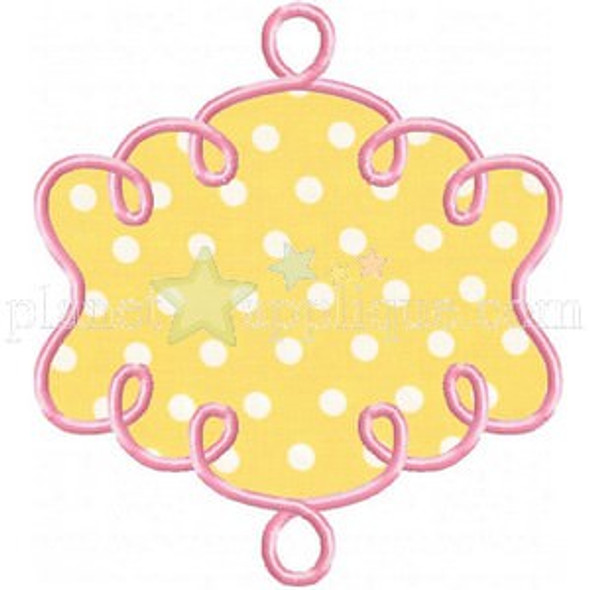 Lullaby Frame Applique Machine Embroidery Design