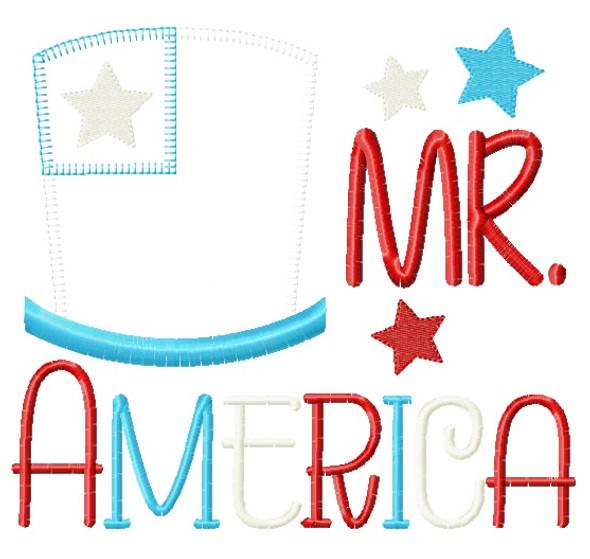 Mr America Blanket and Vintage Applique