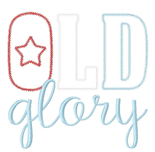 Old Glory Blanket and Vintage Applique Machine Embroidery Design