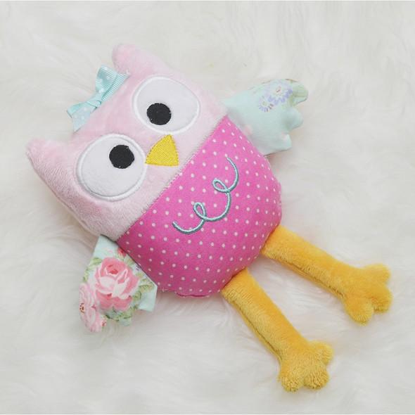Olivia Owl Plush Machine Embroidery Design
