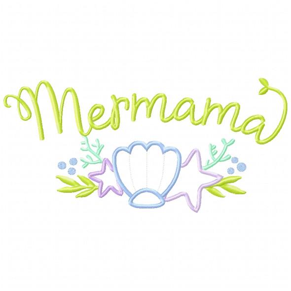 Mer-Mama Satin and Zigzag Applique