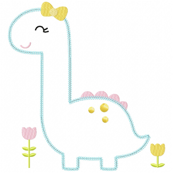 Sweet Dino Chain and Vintage Applique