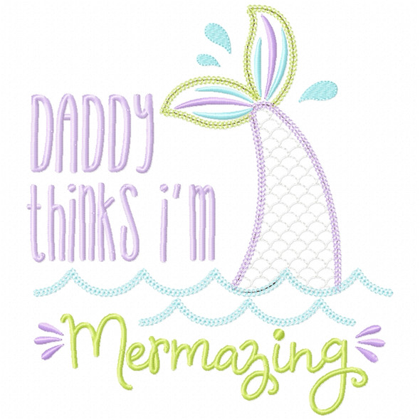 Daddy Mermazing Chain and Vintage Applique
