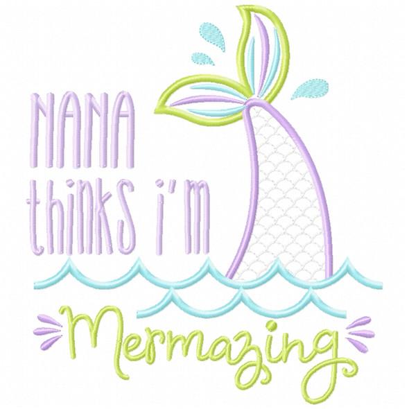 Nana Mermazing Satin and Zigzag Applique