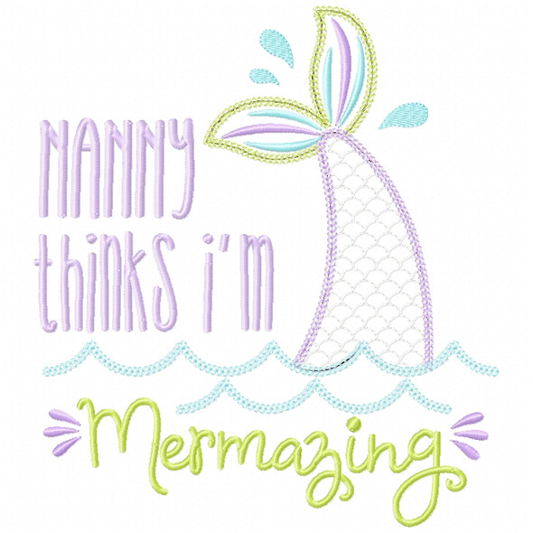 Nanny Mermazing Chain and Vintage Applique