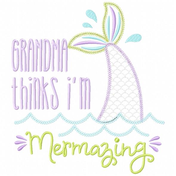 Grandma Mermazing Chain and Vintage Applique