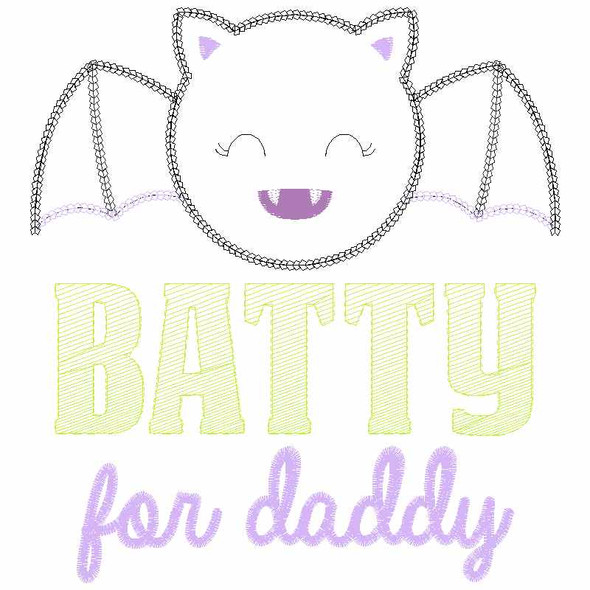 Batty for Daddy Chain and Vintage Applique