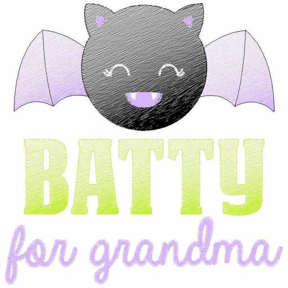 Batty for Grandma Sketch Applique