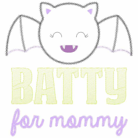 Batty For Mommy Chain and Vintage Applique