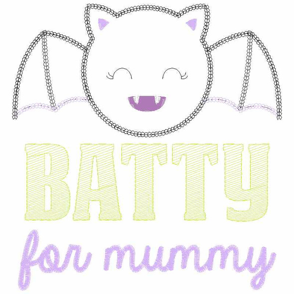 Batty for Mummy Chain and Vintage Applique