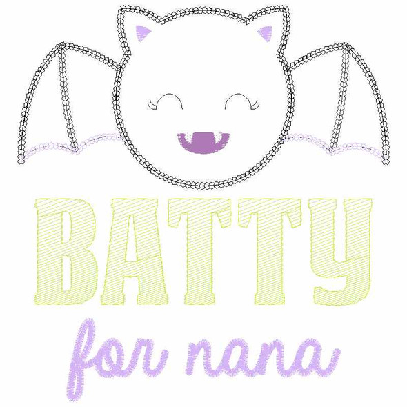 Batty for Nana Chain and Vintage Applique